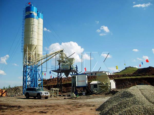 Купить стационарный бетонный завод из Китая