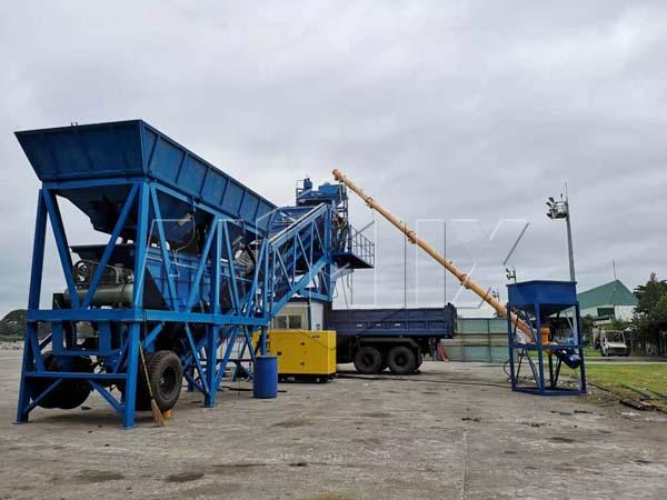 Купить мобильный бетонный завод из Китая