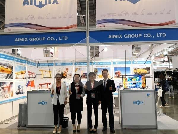 Купил строительные оборудования AIMIX на Bauma CTT RUSSIA