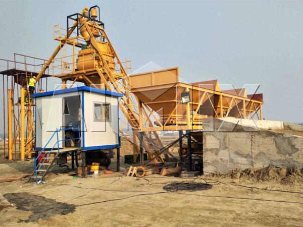 Мини стационарный бетонный завод купить