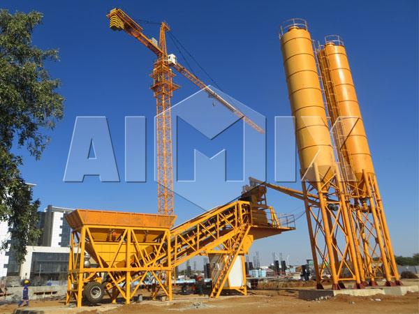 Мобильный мини бетонный завод купить из Китая