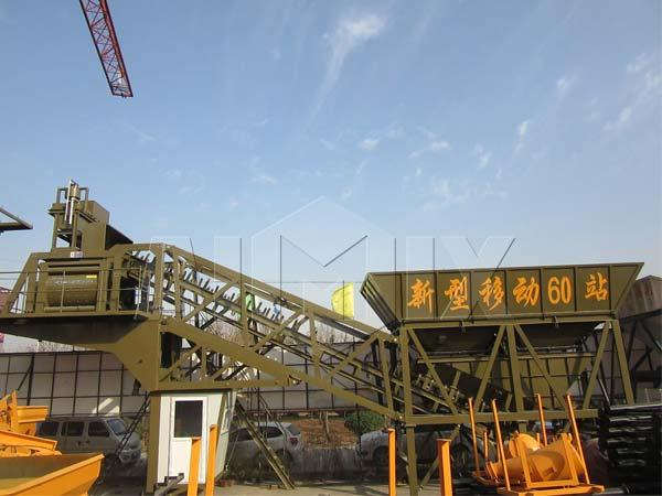 Мобильный бетонный завод на шасси купить из Китая