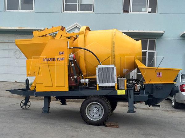Купить бетоносмеситель с насосом цена из Китая
