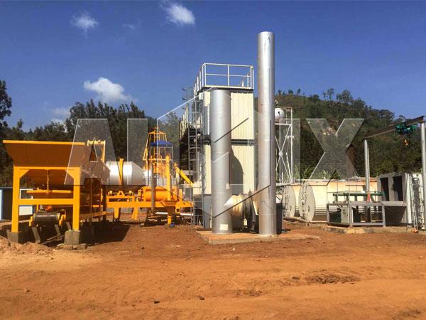 Простой мини асфальтовый завод купить из Узбекистана