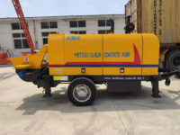 Поставили дизельный стационарный бетононасос 50 м3/ч