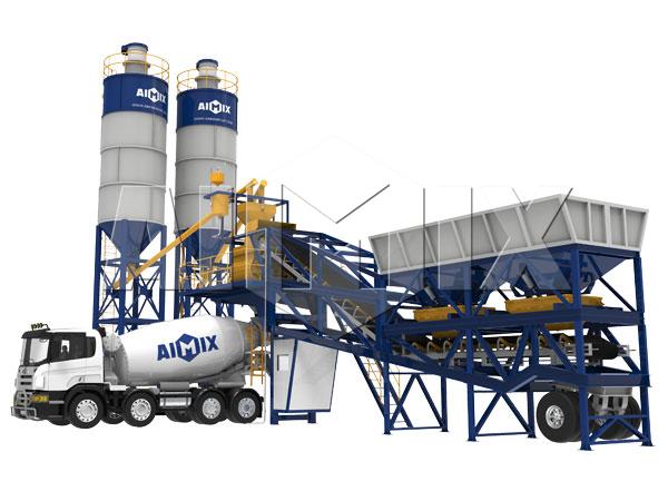 Купить бетонный завод передвижной из Китая