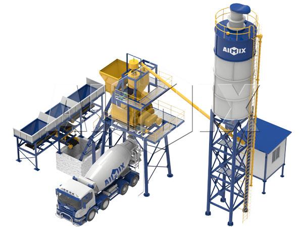 Купить мини бетонный завод 35 м3/ч