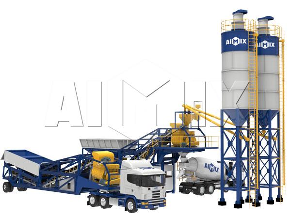 Продам передвижной бетонный завод цена из Китая
