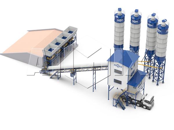 Продать стационарный бетонный завод 120 м3/ч