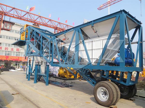 Заказать бетонный завод передвижной из Китая