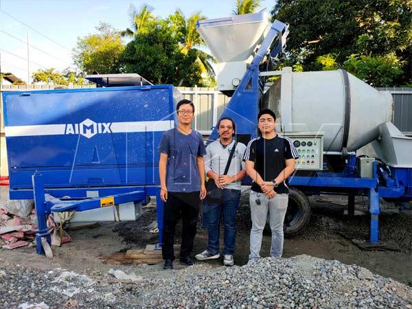 Дизельная бетономешалка с насосом на Филиппинах